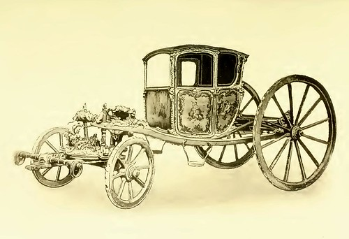003-Pequeña carroza de gala epoca Luis XV siglo XVIII
