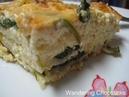 Charming Vegetarian Lasagna With Feta Cheese, Spinach, And Tofu