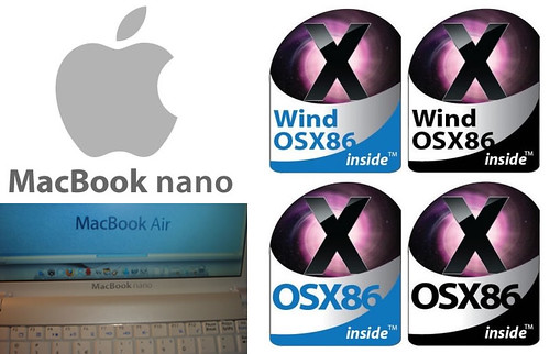 DIY MacBook nano stickers (for MSI Wind) by inju.
