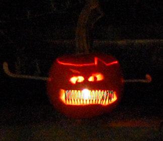 Cheryl's Puppet Pumpkin