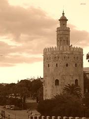 Torre del Oro. (akiar) Tags: sepia sevilla olympus e300 zuiko xataca akiar akiarexpone photowalkxfsevilla