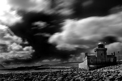 Lighthouse at Blacksod Point (Dave Road Records) Tags: ireland blackandwhite landscape infrared mayo countymayo broadhaven lakecarrowmore