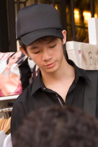 Boy with black shirt