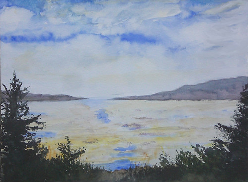 Sandlake Estuary Watercolor