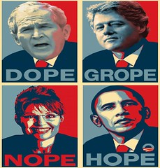 Hope............ (i . /\LEEM) Tags: usa hope democracy bush election clinton president politics stamp 2008 obama palin