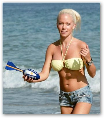 Kendra Wilkinson Plays in the Sun