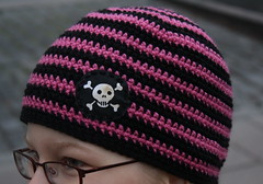 Stripey Skull Hat