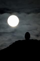 Moon Rise Cairn (escher is still alive) Tags: november sculpture moon stone egg 2008 homage cairn landart enviro environmentalart andygoldsworthy temporaryart clougha enviroart httpjrlandartblogspotcom