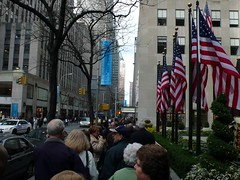 Getting in line for Radio City (dclarson) Tags: nyc radiocity rockettes