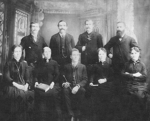 Children of Jens Jacob Hansen (c1820-1864) and Anna Marie Gabrielsen  (1819-1888) Jensen in Norway circa 1880