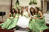 blue bridesmaid style green bridesmaid style wedding photo