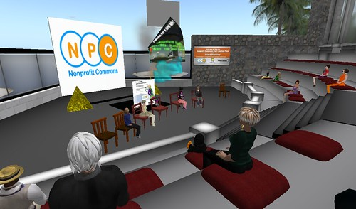 Nonprofit Commons in Second Life meeting