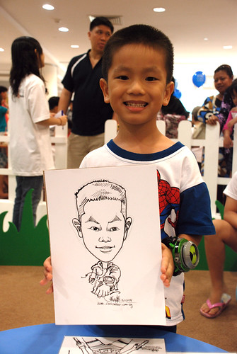 caricature live sketching for West Coast Plaza day 2 - 10