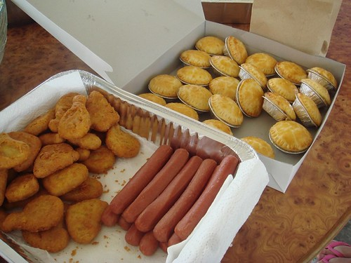 Chicken pie,hotdog & nuggets