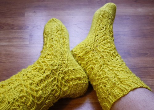 Twisted Flower Socks
