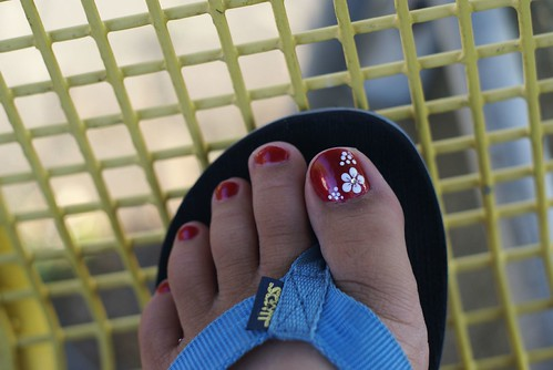 Candy Big Toe Nail Art from nail art gallery