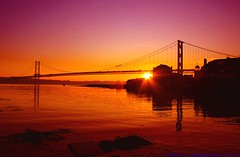 Rest in Peace Andy..... (law_keven) Tags: bridge sunset sea orange sun andy water scotland edinburgh awesome tribute firth forthroadbridge