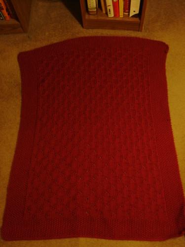 Cheri's red blanket 1