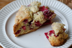 Raspberry-ginger scone
