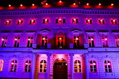 The Bertelsmann Buiding (Ismail - humanistic misanthrope ) Tags: building purple haus belin bertelsmann kartpostal freephotos flickrlovers ismail84