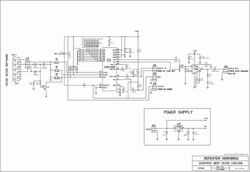 ISD1420 Corbeep Schematic
