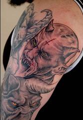 demon sleeve in progress 1 (Dark Dan) Tags: tattoo dark evil satan devil satanic demons