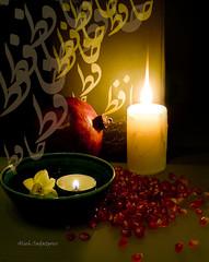 Happy Yalda (Alieh) Tags: flower persian candle iran seed pomegranate persia flame iranian  esfahan isfahan     yalda       aliehs alieh       saadatpour