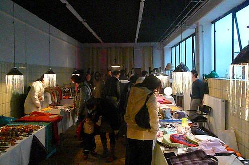 Saint-Igloo Weihnachtsbasar bei Atelierfrankfurt. Dezember 2008