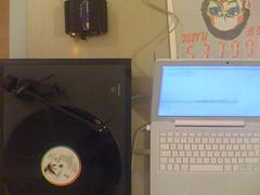 Old school (boncey) Tags: music vinyl linn audio recording buggles macbook linnbasik artusbphono