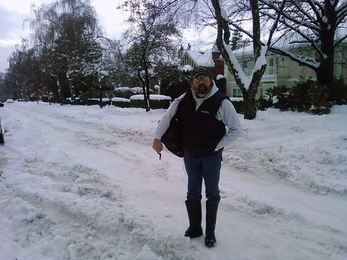 dad, angus drive, snow
