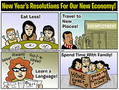 New Years Resolutions For Our New Economy! (M1khaela) Tags: poverty food holiday togetherness bills politics families humor newyear hunger economy cartoons crisis unemployment resolutions foreclosure financialcrisis mortgagecrisis creditcrisis subprimeloans