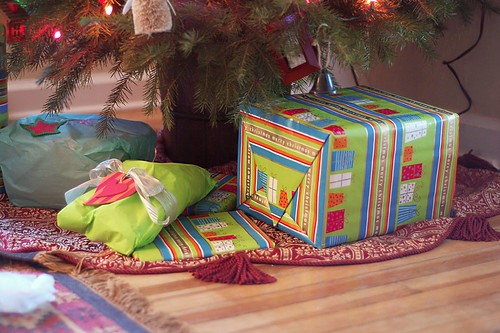 Presents under the tree.