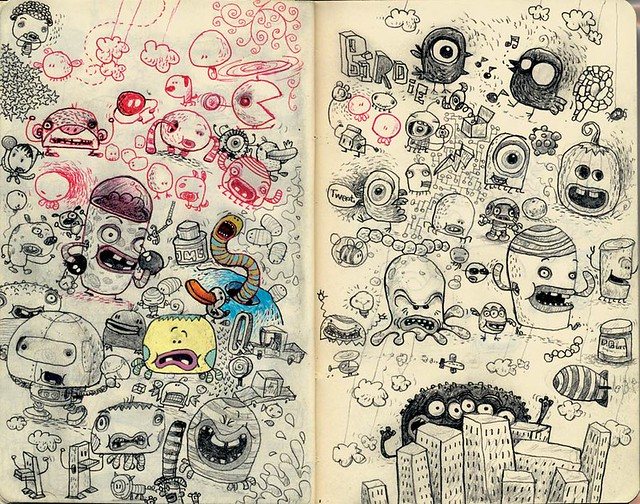 more moleskine doodles