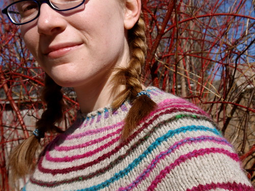 stripes! yoke closeup