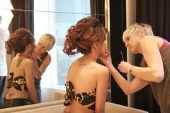 touchup. (Liz Lieu) Tags: liz model makeup tattoos behindthescene lieu fasionista lizlieu pokerdiva fashionphotoshoot propokerplayer