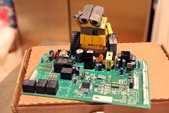 Fridge Tech (twmjedi) Tags: canon toy rebel disney pixar 365 efs circuitboard xsi 1755 walle 1755mm project365 efs1755 canonefs1755mmf28isusm 450d canonefs1755mmf28 oneobject365daysproject 365toyproject walle365