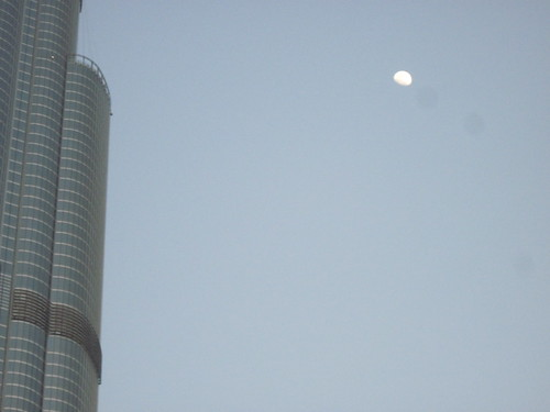 Moon and Burj