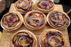 PRETTY PLUM TARTS (misswangy) Tags: nyc food fruits brooklyn dessert plum bakery wang tart wangy misswang misswangy