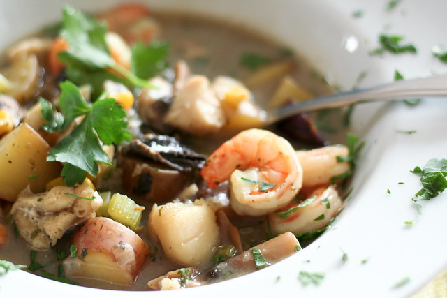 Fish Soup (that you can actually eat with a spoon...) • The Healthy ...