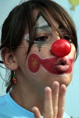 clown (Blue Spirit - heart took control) Tags: red portrait girl nose clown rednose lips rosso ritratto bocca ragazza padova naso nasorosso dottorclown