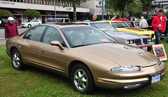 1998 Oldsmobile Aurora (D70) Tags: show park door canada sports car by vancouver sedan four was bc waterfront general district north orphan motors made aurora 1998 1995 division luxury v8 oldsmobile launched midsize oldsmoblie 2011
