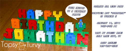 Lego Invitation Ashlee Marie real fun with real food