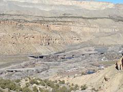 California Zephyr into Debeque Canyon (iagoarchangel) Tags: railroad train colorado coloradoriver californiazephyr debequecanyon palisaderims
