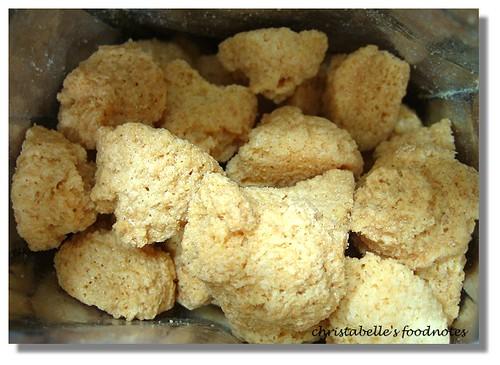越南泉記起士牛奶椰子酥打開包裝看