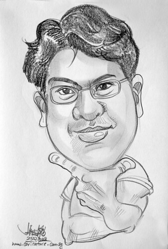 Caricature pencil WaveSecure TenCube 6