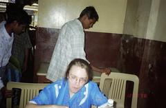 eating lunch (Jennifer Kumar) Tags: negativescan tamilnadu pondicherry india1998 puducherry