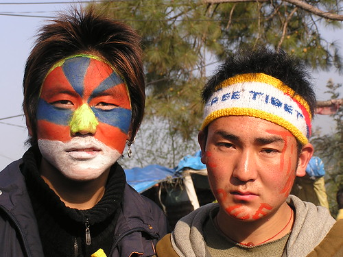 Peaceful Tibetan celebrations, Dharamsala, India, 10 March 2008