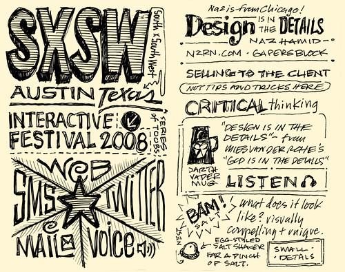 SXSWi 2008: Sketchnotes 01-02