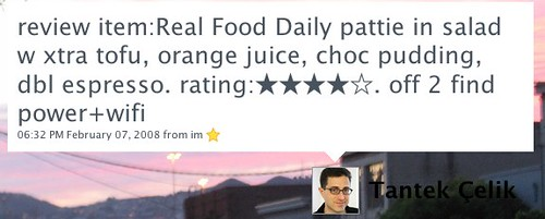 Twitter / Tantek Çelik: review item:Real Food Daily...