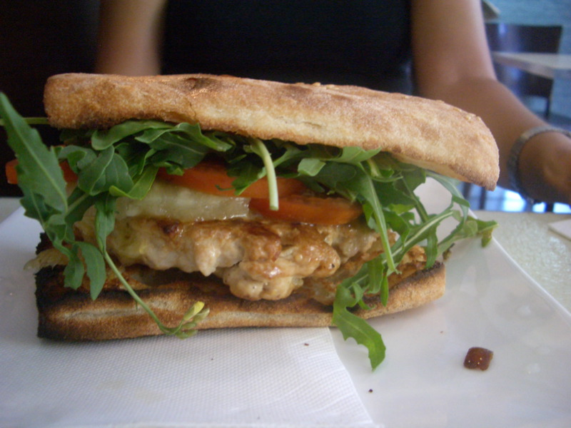 Chicken burger at Lb.